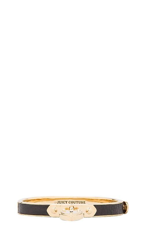 Skinny Padlock Leather Bracelet