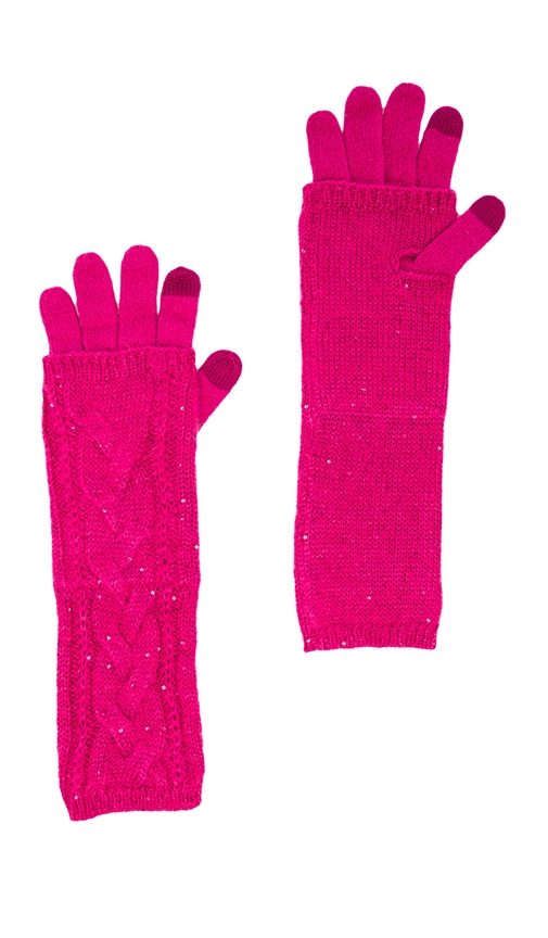 Sparkle Cable Layered Texting Gloves