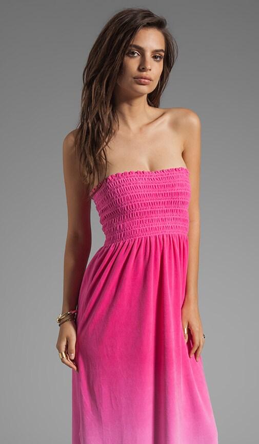 Ombre Velour Maxi Dress