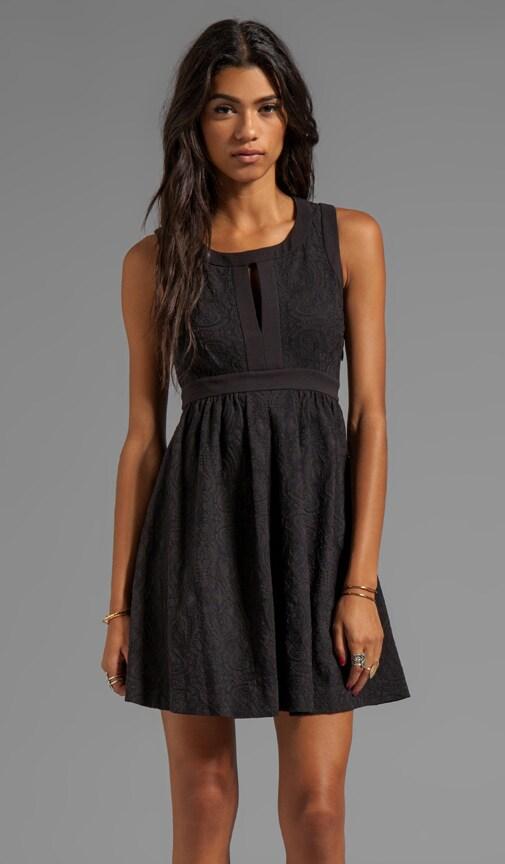 Cloque Jacquard Dress