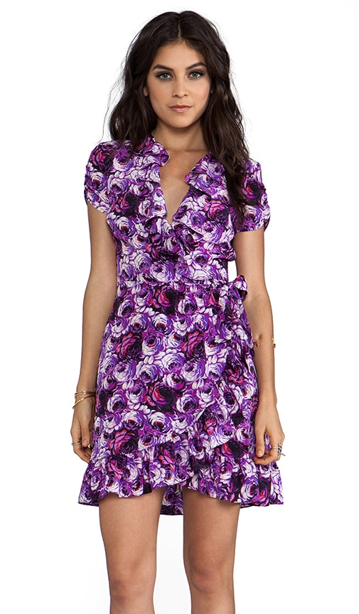 Blooming Rose Wrap Dress