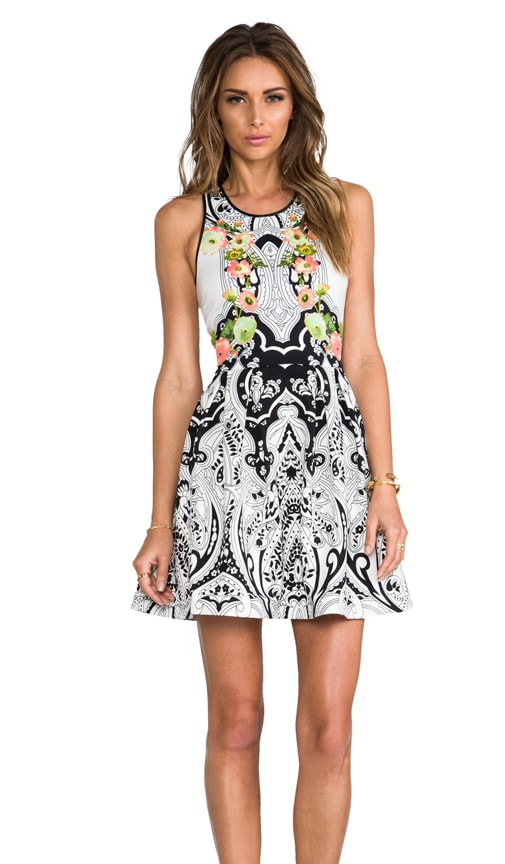 Deco Holiday Print Dress