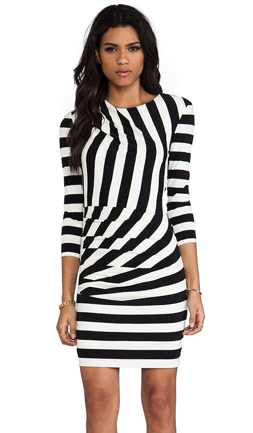 Promenade Stripe 3/4 Sleeve Dress
