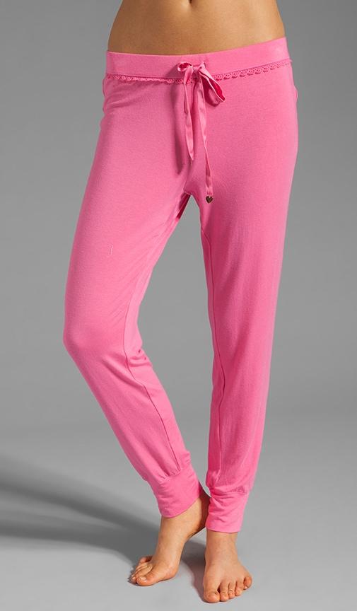 Slim Leg Pant w/ Lace Detail