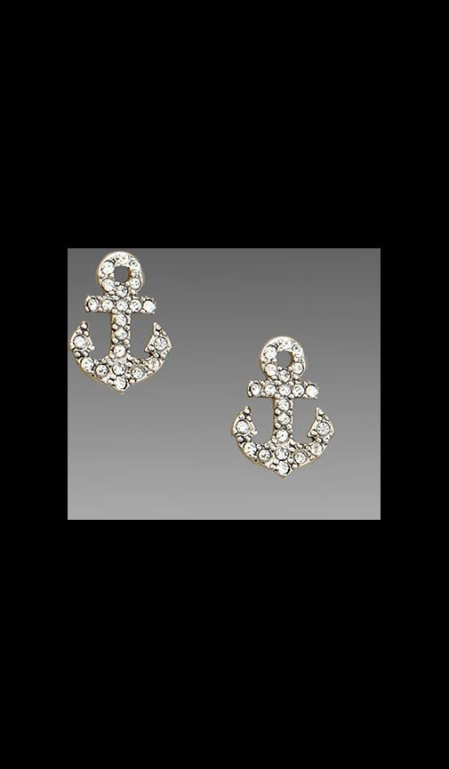 Pave Anchor Stud Earring