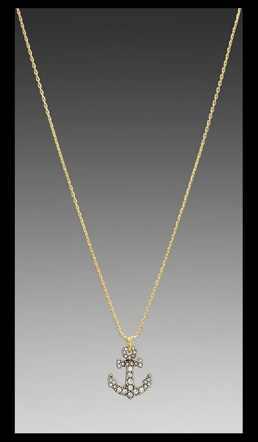 Pave Anchor Wish Necklace