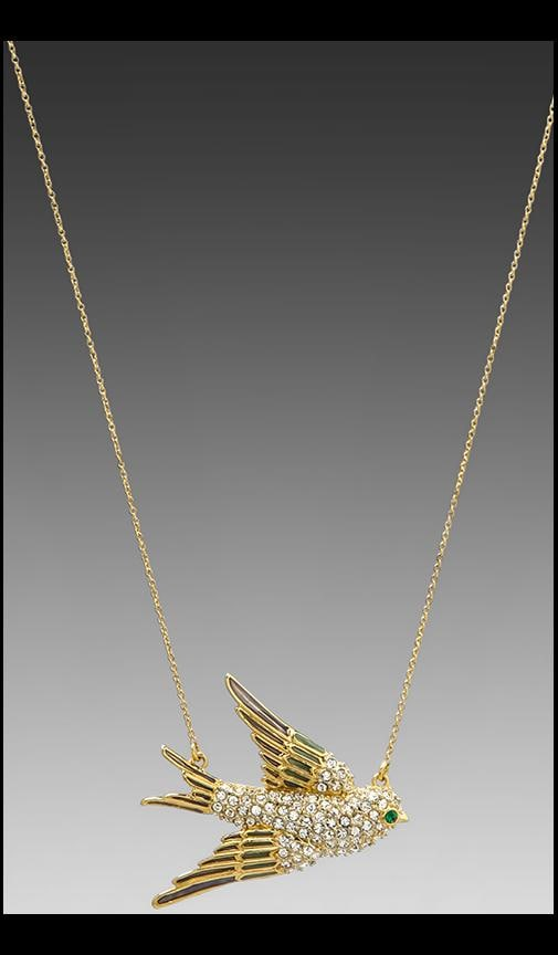 Pave Bird Necklace
