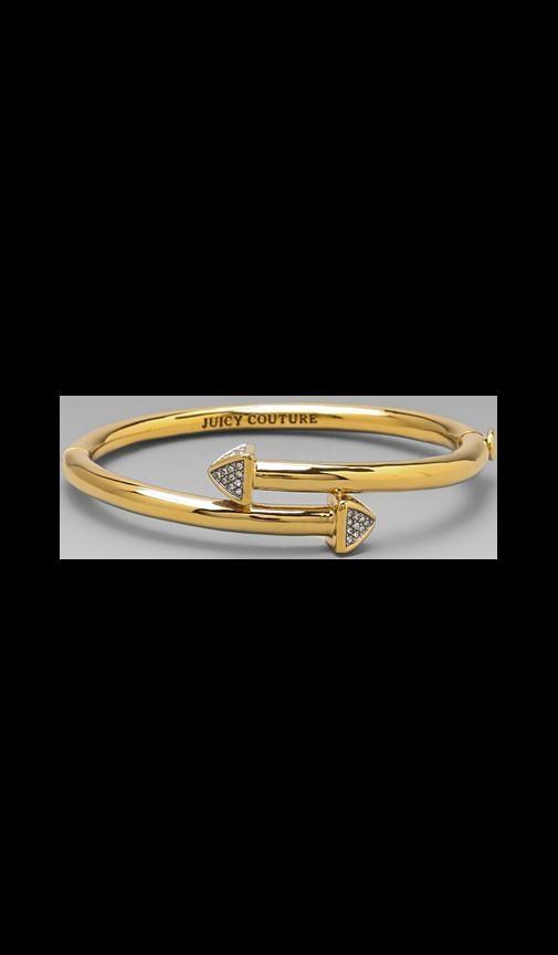 Pave Stud Hinged Bracelet