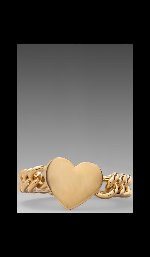 Metal Heart ID Bracelet