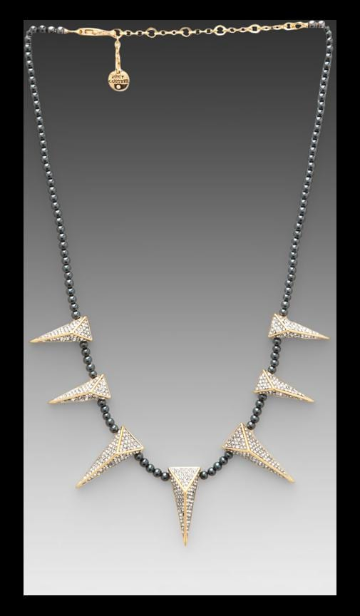 Pave Spike Pearl Necklace