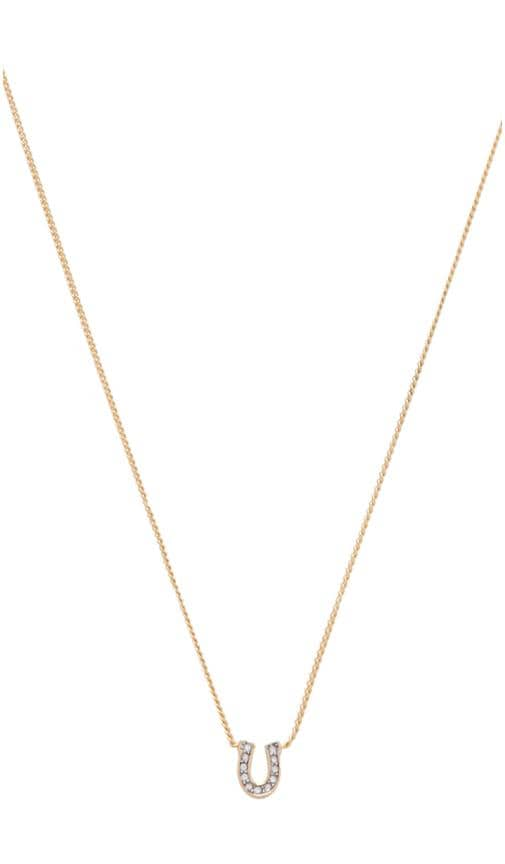 Charm Minis Pave Horseshoe Necklace