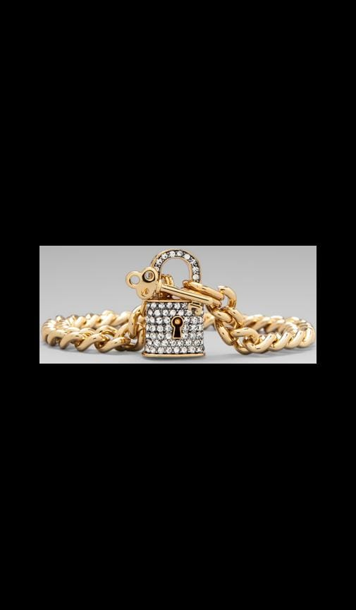 Totally Secure Couture Pave Padlock Bracelet