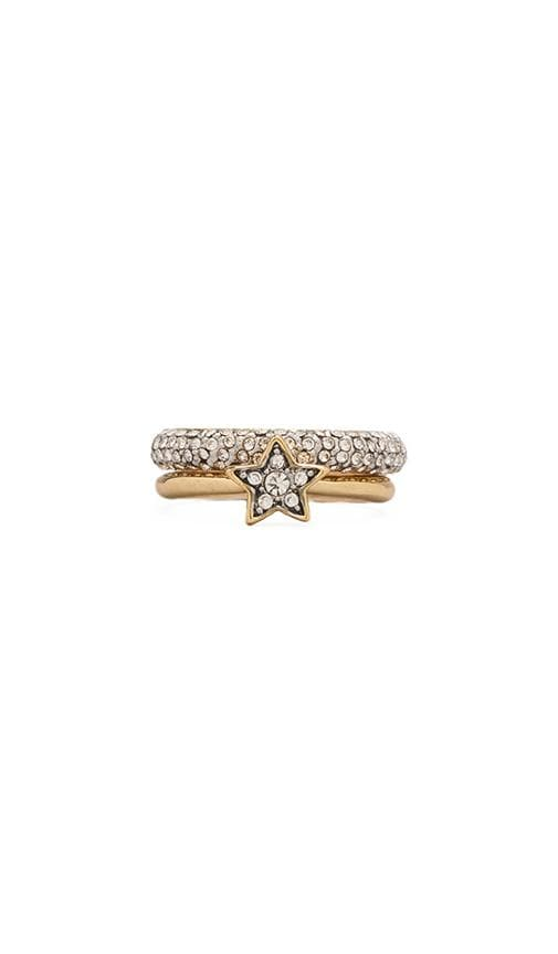 Pave Star Ring Duo