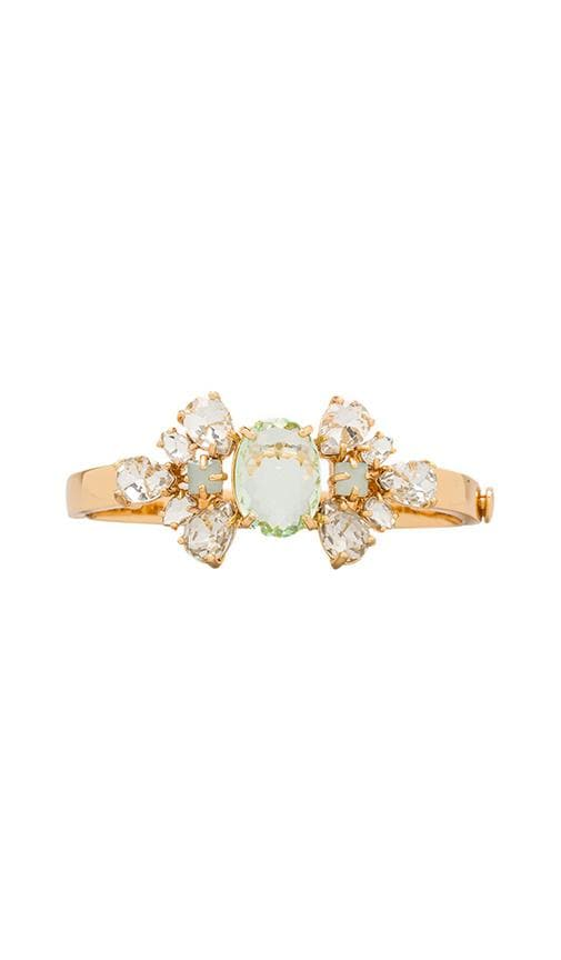 Pear Cut Cluster Hinged Bangle