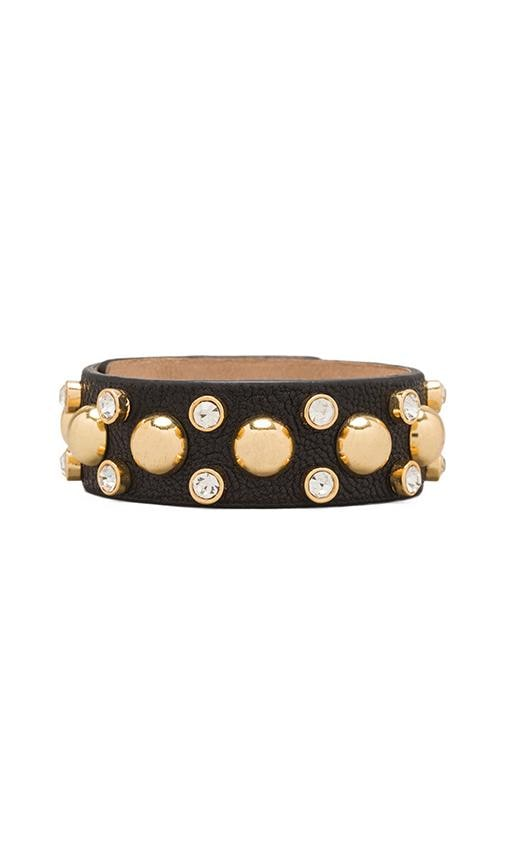 Thin Studded Leather Cuff