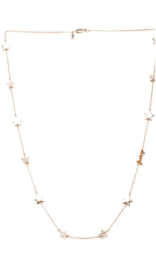 Pave Star Strand Necklace