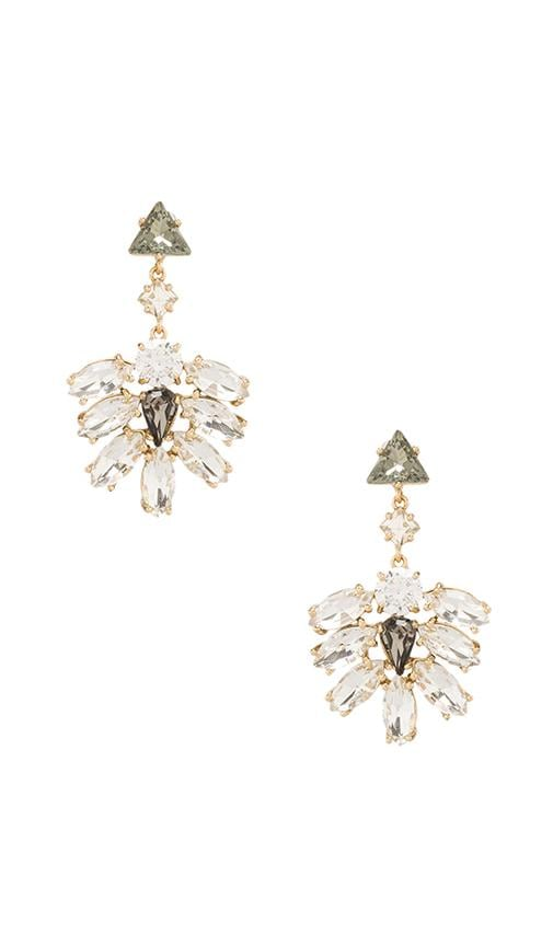 Rhinestone Cluster Drop Earrings