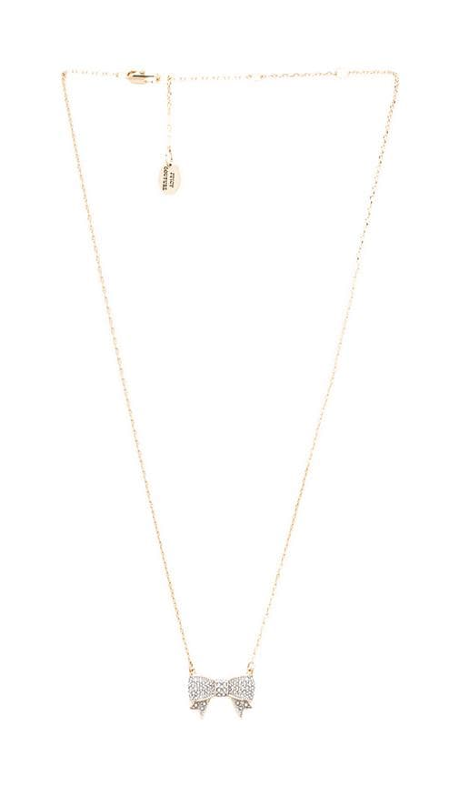 Pave Bow Wish Necklace