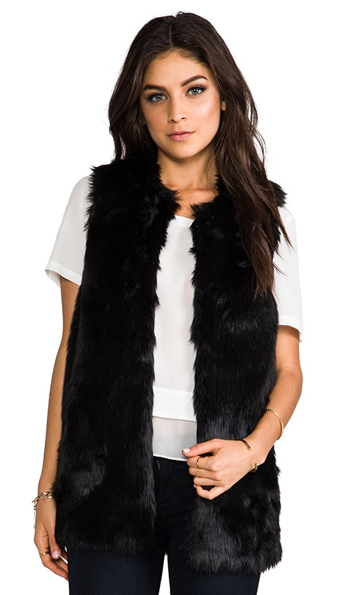 Bear Faux Fur Vest