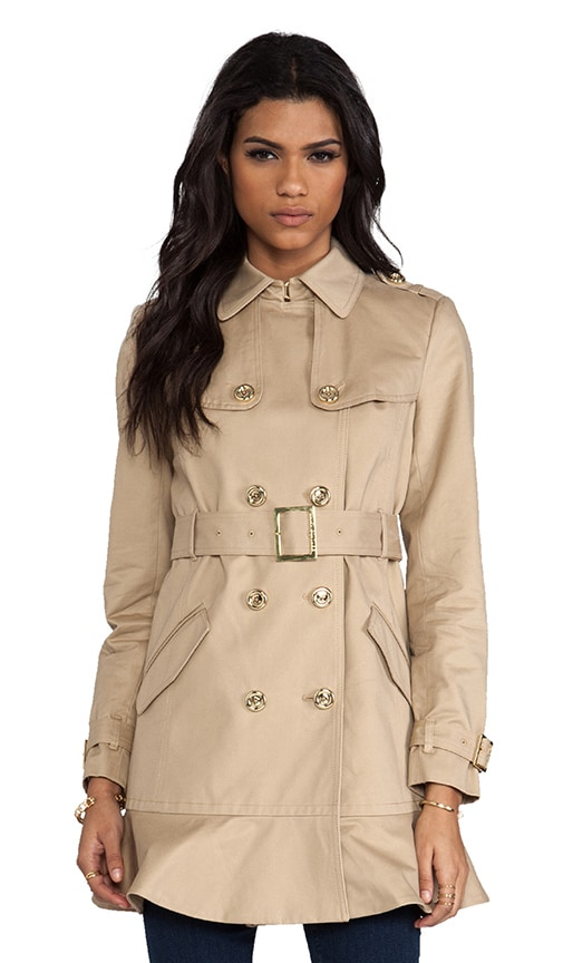 Double Breasted Cotton Trench
