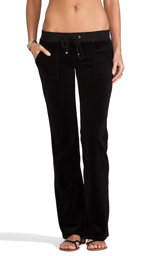 Velour Bootcut Pant with Snap Pockets