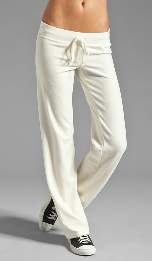 Velour Collegiate Crest Pant