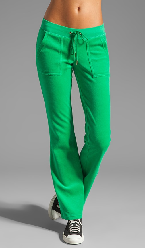 Velour Bling Snap Pocket Pant