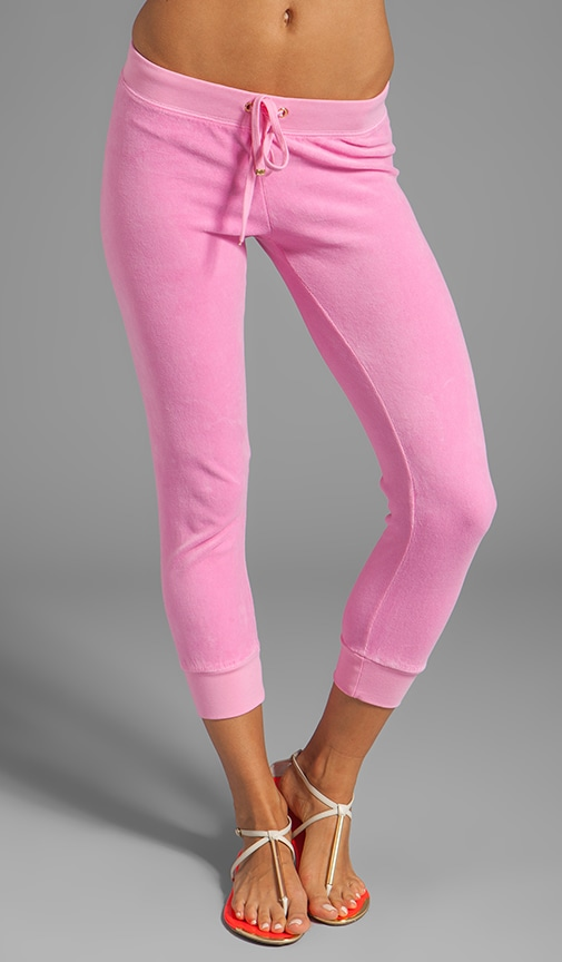Velour Capri Sweatpant