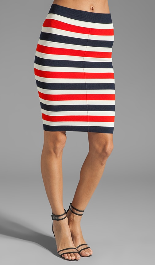 Atlantic Stripe Skirt
