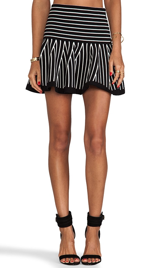 Flounce Skirt w/ Stripes