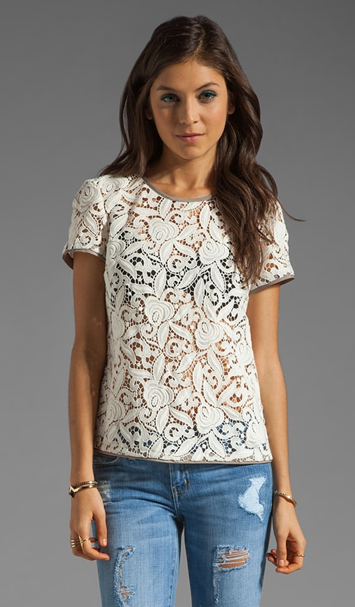 Guipuere Lace Tee