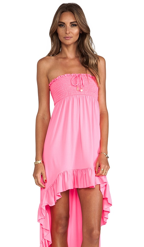 Bow Chic High-Low Cover Up Dress