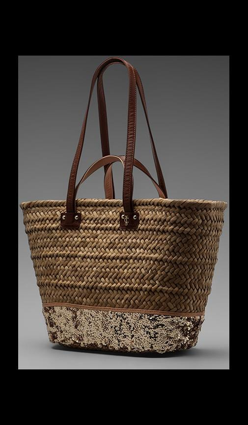 Malibu Straw and Sequin Beach Tote