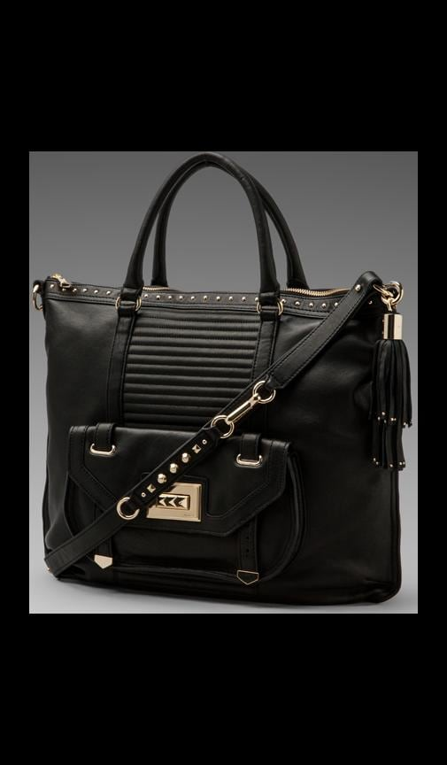 Rockstar Leather Zip Tote