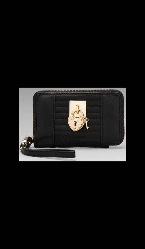 Signature Leather Tech Wristlet