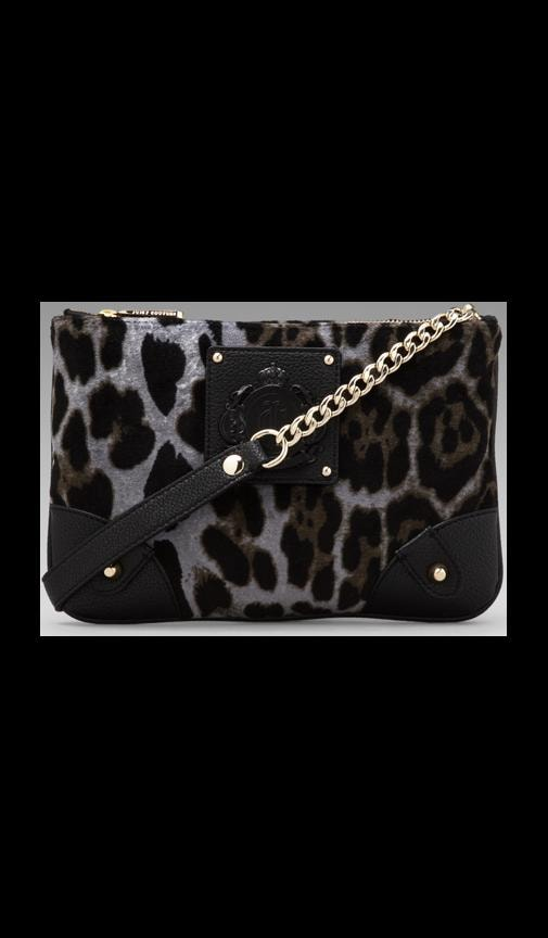 Animal Printed Velour Louisa Crossbody