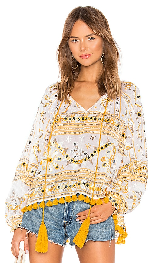 Tribal Print Swing Top with Tassels