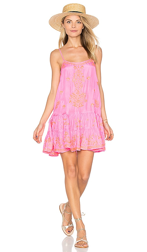 juliet dunn Silk Cami Dress in Pink