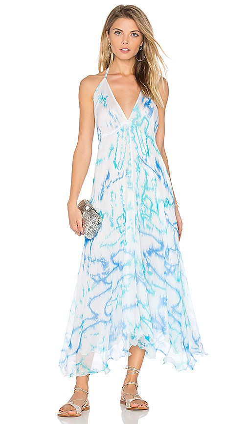 juliet dunn Parachute Maxi Dress in Blue