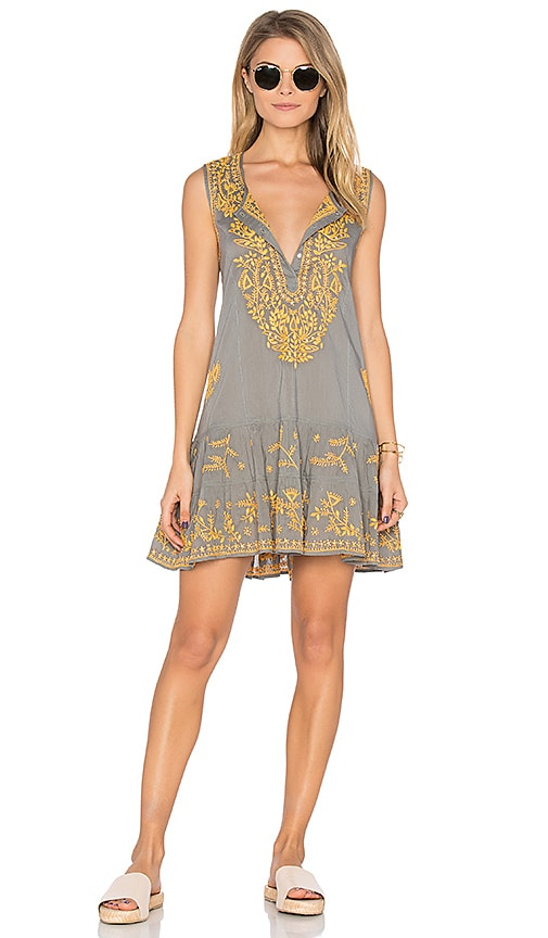 juliet dunn Sleeveless Shift Beach Dress in Gray