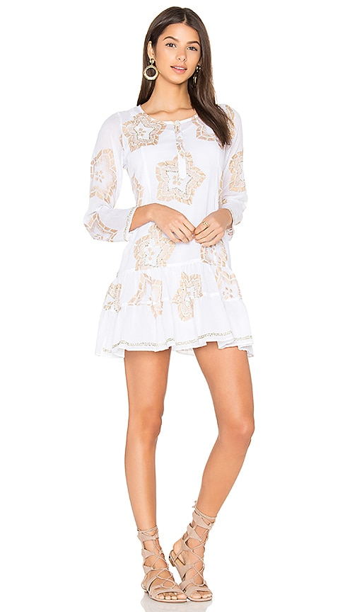 juliet dunn Starflower Beach Dress in White