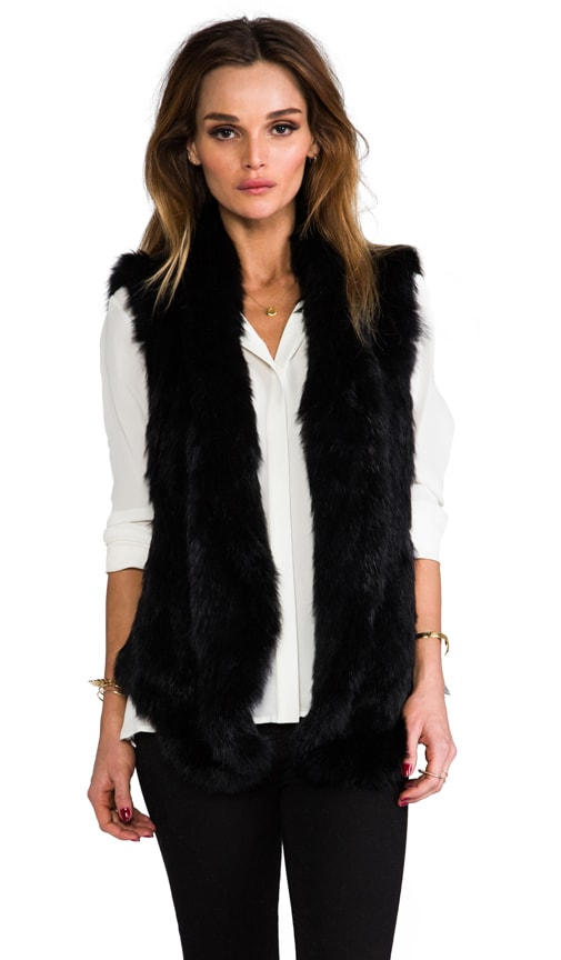 Knit Fur Long Vest