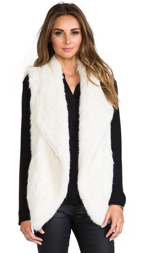 Snap Collar Fur Vest