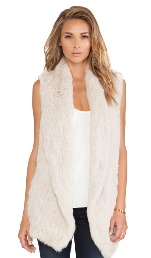 Knitted Rabbit Fur Vest