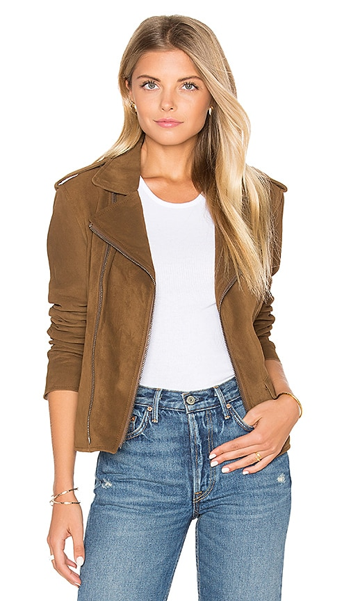 June Vintage Suede MC Jacket in Brown