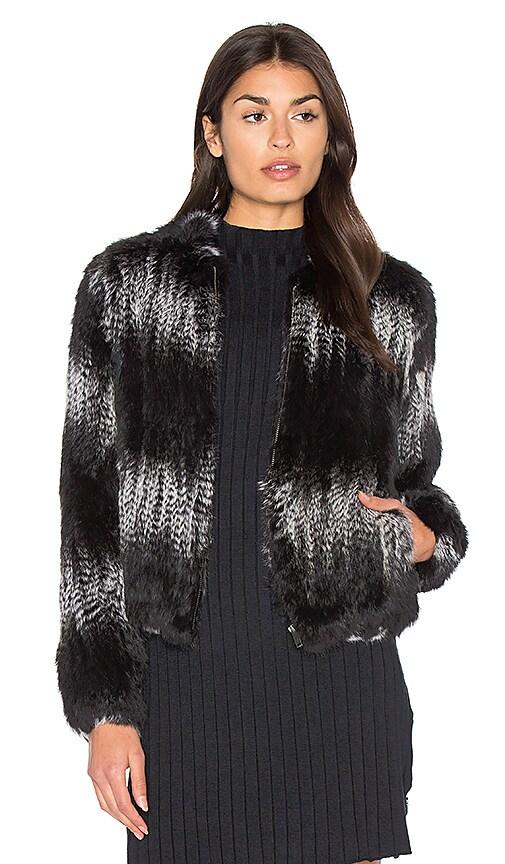 Zip Rabbit Fur Jacket