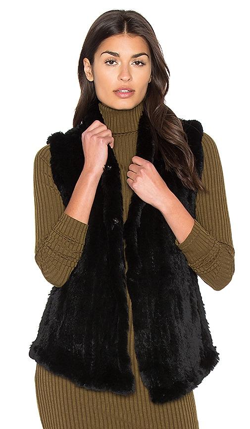 Shawl Dyed Rabbit Fur Vest