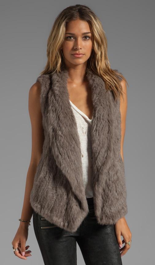 Knit Fur Long Vest