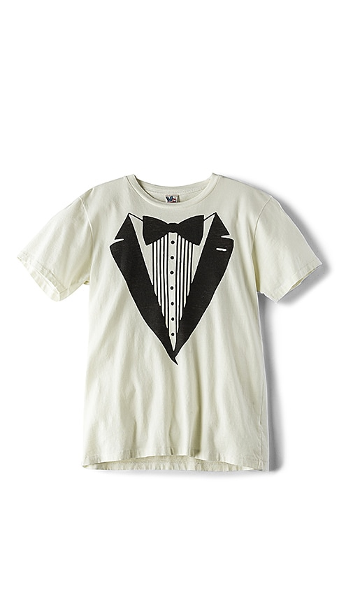 Junk Food Tuxedo Suit Tee in Ivory