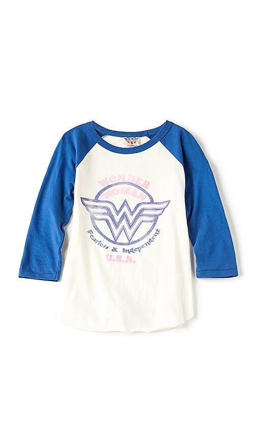 Junk Food Wonder Woman USA Tee in White